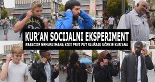 Socijalni eksperiment: Kako nemuslimani reaguju kada prvi put čuju učenje Kur'ana